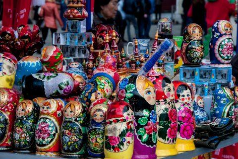Matryoshka dolls, Red Square, Moscow