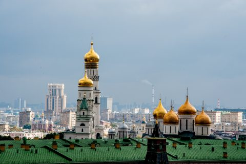 Kremlin roofs, Moscow
