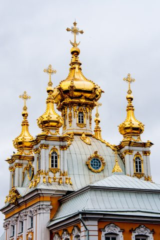 Grand Palace, Peterhof, St Petersburg, Russia