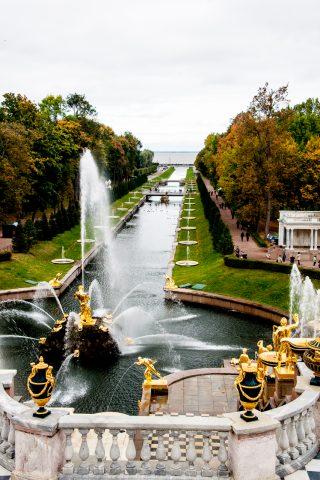 Grand Cascade & Water Avenue, Peterhof, St Petersburg