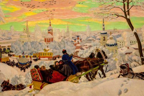 Shrovetide by Boris Kustodiev,  Russian Museum, St Petersburg