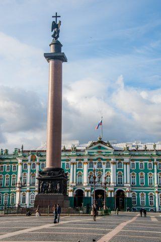 Alexander Column & Hermitage Winter Palace, St Petersburg