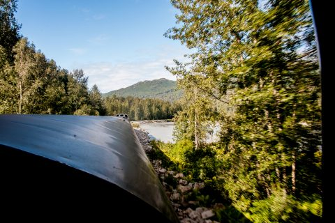 View from Anchorage to Denali train, Alaska