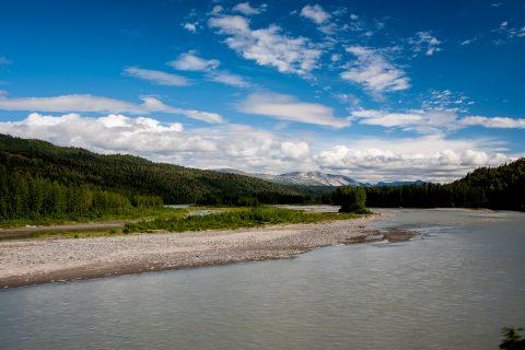 Susitna River from train, Alaska