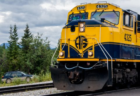 Denali to Fairbanks train, Denali, Alaska
