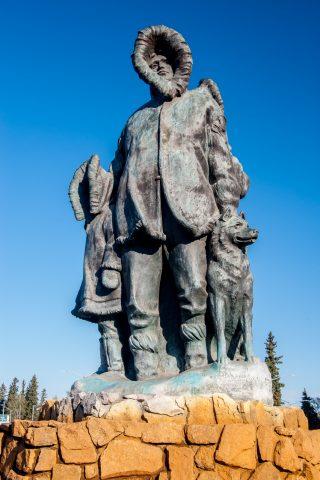 First Family Sculpture, Fairbanks, Alaska