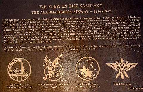 Lend Lease Monument plaque, Fairbanks, Alaska