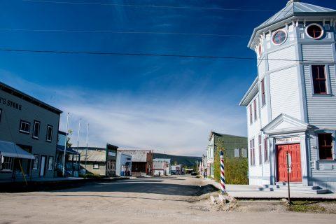 Dirt street, Dawson City, Yukon, Canada