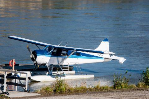 Float plane, Yukon River, Dawson City, Canada