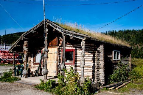 Log cabin home, Dawson City, Yukon, Canada