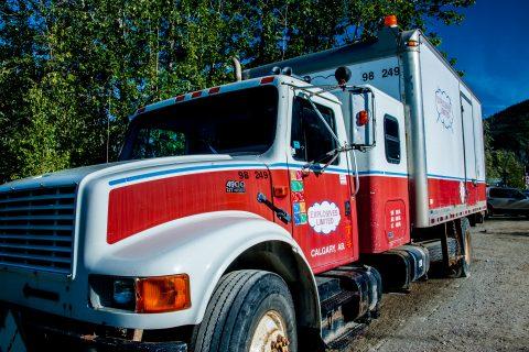 Explosives truck, Dawson City, Yukon, Canada
