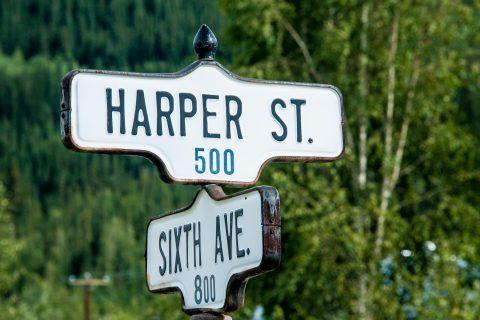 Street signs, Dawson City, Yukon, Canada