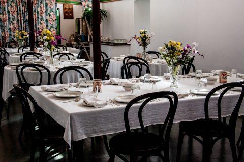 SS Klondike diningroom, Whitehorse, Yukon, Canada