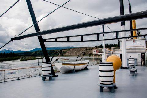SS Klondike deck, Whitehorse, Yukon, Canada
