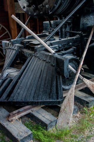 White Pass & Yukon Railway engine, Whitehorse, Yukon, Canada