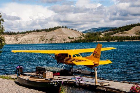 Float planes, Yukon River, Whitehorse, Canada