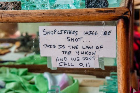 Shop sign, Carcross, Yukon, canada