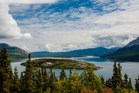 Boves Island, Nares Lake, Yukon, Canada