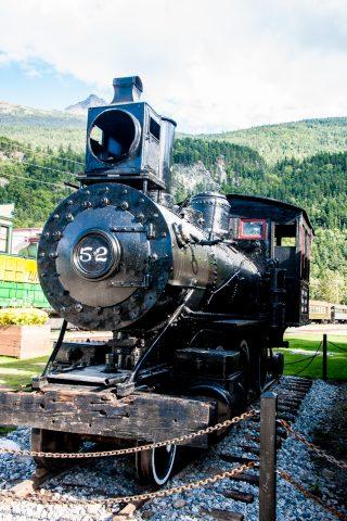 White Pass & Yukon Railway, old engine,, Skagway, Alaska