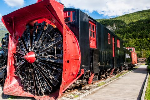 White Pass & Yukon Railway, snowblower, Skagway, Alaska