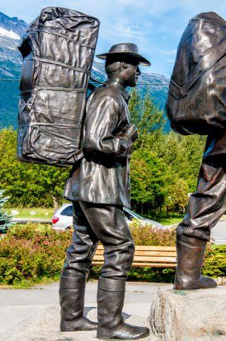 Gold Rush monument, Skagway, Alaska