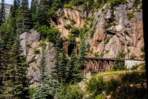 Railway bridge & tunnel, White Pass railway, Skagway, Alaska