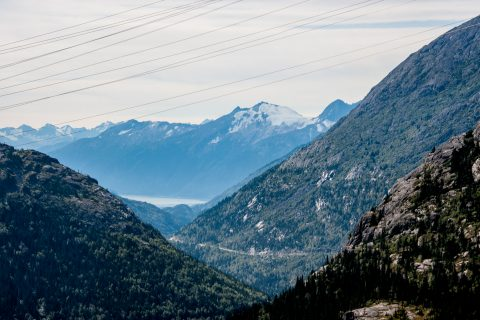View down to Skagway, Alaska