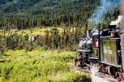 White Pass & Yukon Route steam engine