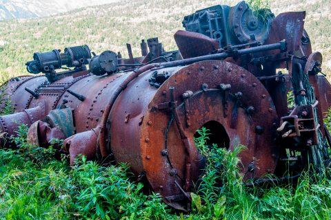 Abandoned railway stock, Skagway, Alaska