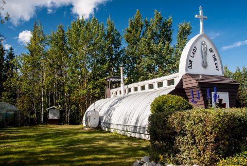 Catholic Mission church, Haines Junction, Yukon, Canada