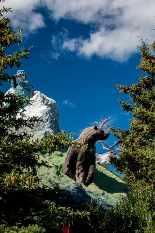 Haines Junctionn. monument - named 'Animal Cupcake', Yukon, Cana
