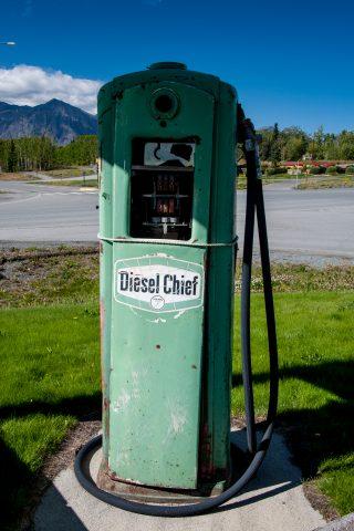 Abandoned petrol pump, Haines Junction, Yukon, Canada