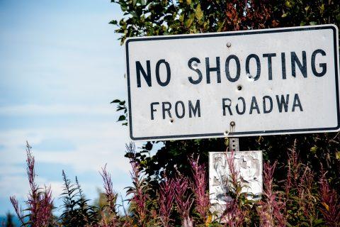 Road sign, near Homer, Alaska