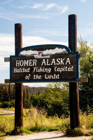 Homer sign, Alaska