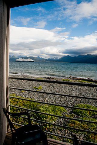 Across Kachemak Bay from hotel on Homer Spit, Alaska
