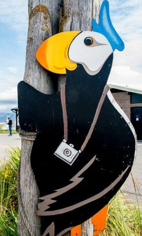 View point sign, Homer Spit, ALaska