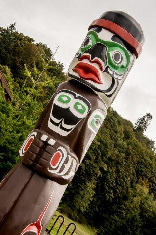 Totems, Kwakwaka'waka People, Quadra Island