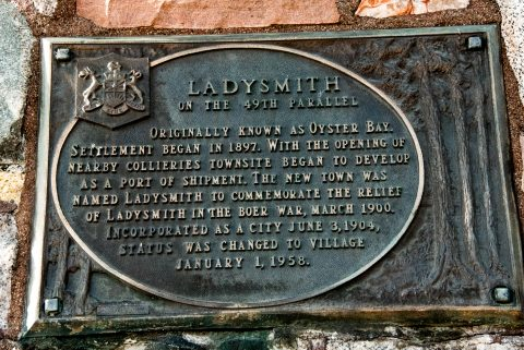 49th Parallel marker, Ladysmith, Vancouver Island