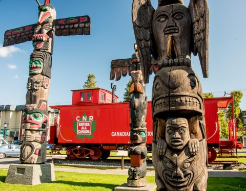 Totems, Duncan, Vancouver Island