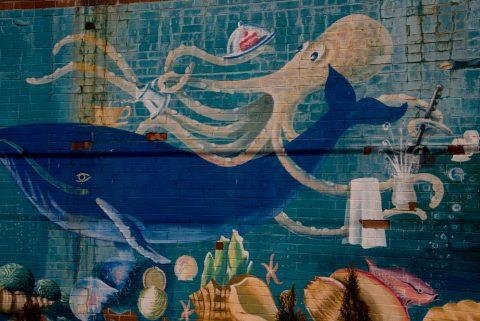 Mural, King Street, Lunenburg, NS