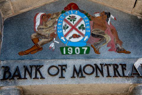 Bank sign, Lunenburg, NS