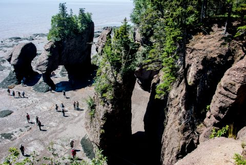 Tide out at Hopewell Rocks. Bay of Fundy, New Brunswick