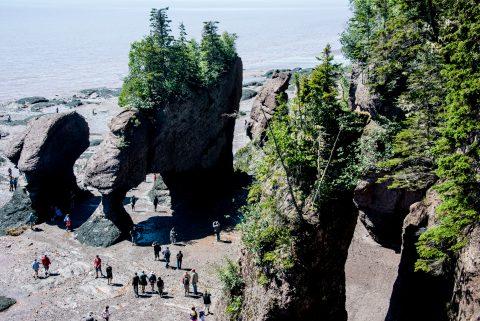 Bay of Fundy tide, Alma, New Brunswick