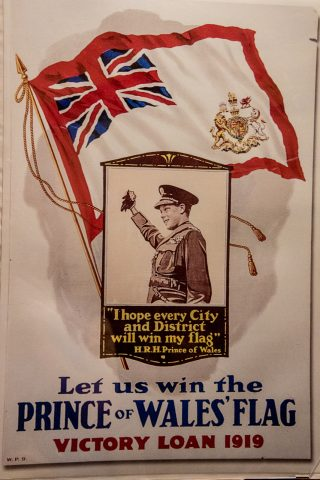 Poster for Prince of Wales Flag, Albert County Museum, NB