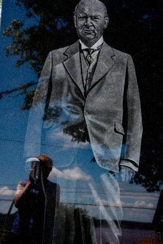 RR Bennett monument, Albert County Museum, NB