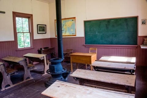 Classroom, Little Red School house, O'Leary, PEI