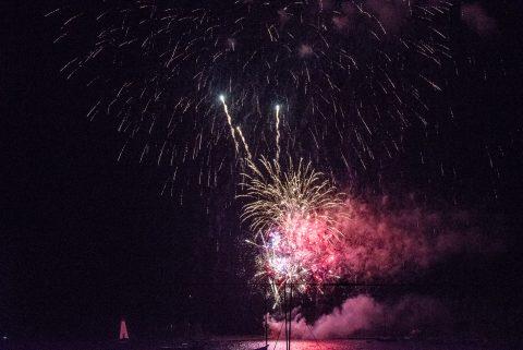 Canada Day fireworks,, Baddeck, NS