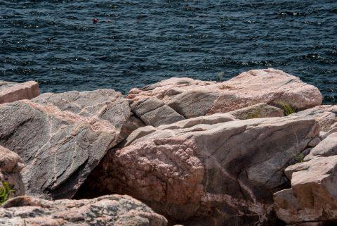 Granite molten rocks, Green Cove, NS