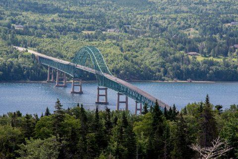 Bridge over entrance to Bras d'Or Lake, NS