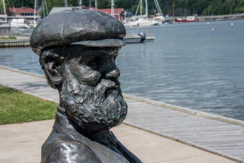Alexander Graham Bell  statue, Baddeck. NS
